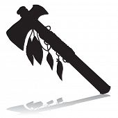 picture of mohawk  - Tomahawk silhouette - JPG