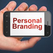 Marketing concept: Personal Branding on smartphone poster