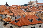 the city of dubrovnik in croatia. unesco world heritage site. house roofs