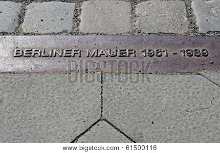 Berlin Wall mark