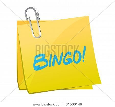 Bingo Post Message Illustration Design
