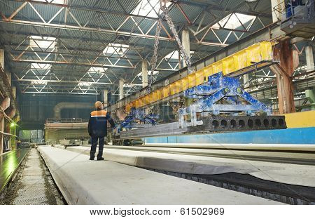industrial interior of house-building plant factory workshop enterprise