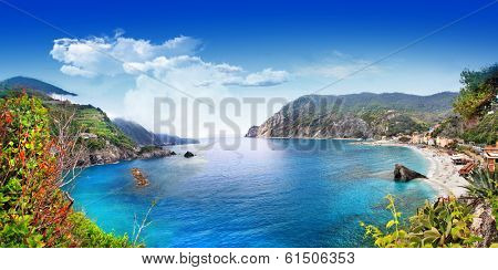 bella Italia series - panorama of Monterosso al mare, Cinque terre