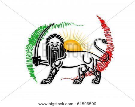 Iranian old flag