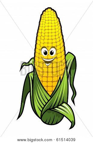 Healthy fresh yellow corn vegetable on the cob