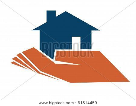 Person holding a house in their hand