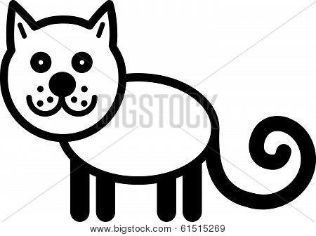 Cute animal cat - illustration