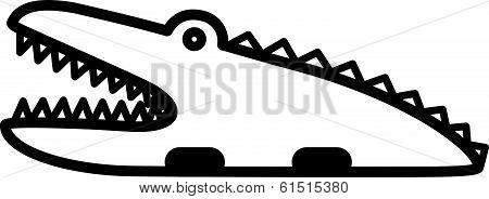 Cute animal  crocodile - illustration