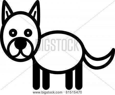 Cute animal dog - illustration