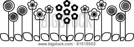 Cute flowers - illustration