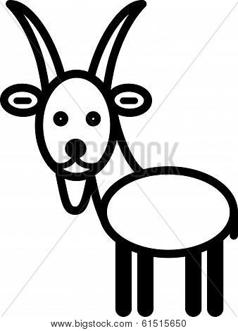 Cute animal goat - illustration