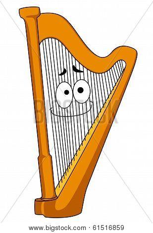 Classical wooden harp