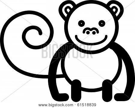 Cute animal monkey - illustration