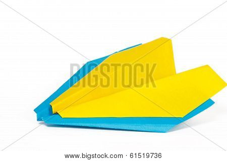 Two Colored Paper Planes