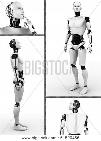 Male Robot Collage.