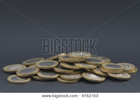 Pile Of Coins isolated on grey