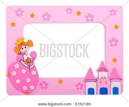 photo frame with castle and a princess