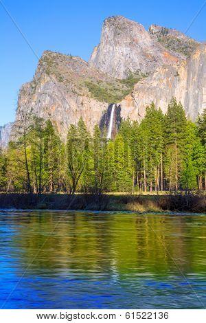 Yosemite Bridalveil fall waterfall National Park California USA