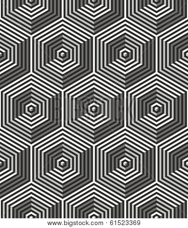 Seamless art deco background:optical illusion