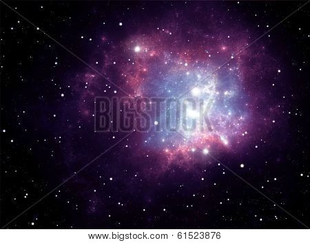 Purple Space Star Nebula