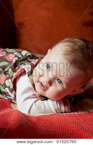 Cute Caucasian Baby Girl