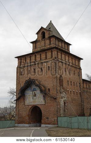 Pyatnitskie gates in the Kolomna Kremlin. Russia