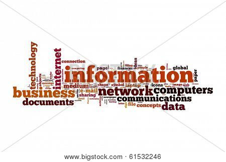 Information concept word cloud image