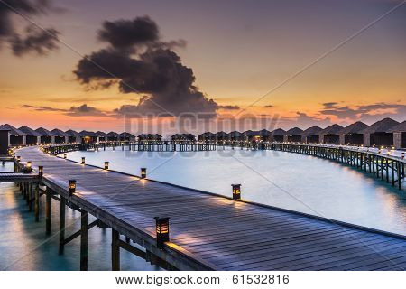 Sunset over the Maldives