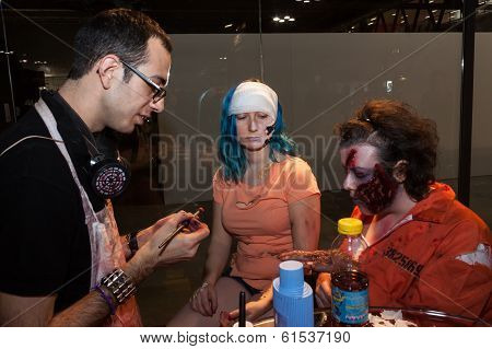 Zombie Makeup At Cartoomics 2014 In Milan, Italy