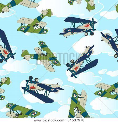 Vintage Allied Plane Flying.