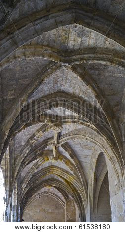 The cloister's vaulted ceiling at The Archbishop's Palace, Narbonne, France