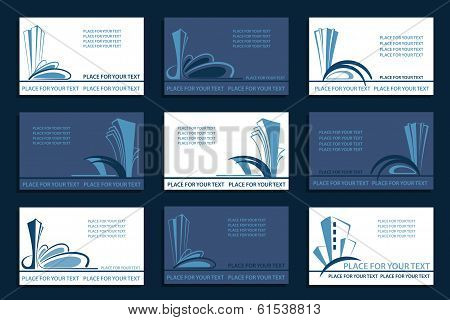 Set of the Business cards