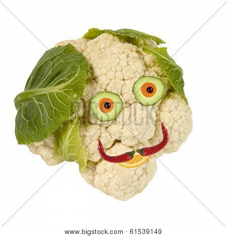 Portrait Made Of Vegetables And Fruits