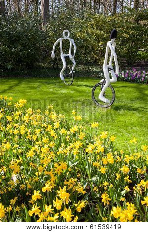 LISSE, NETHERLANDS - APRIL 20, 2013: Famous flowers park Keukenhof in Netherlands also known as the Garden of Europe, is the world's largest flower garden.