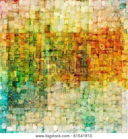 Vintage mosaic background
