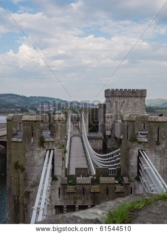 One of the towers at Conwy Castle, Wales