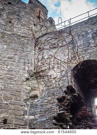 Image of King Edward I in Conwy Castle, Wales