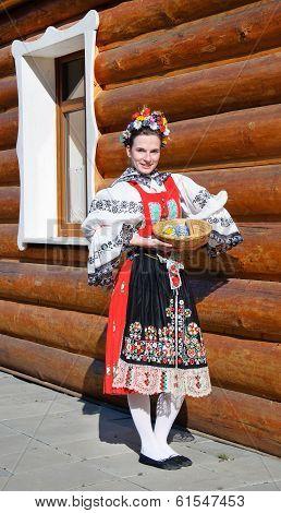 The Smiling Girl In Folk Costume