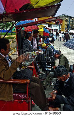 Shoe Shiners In Bogota