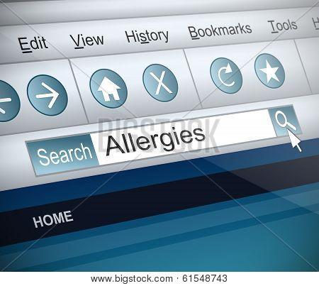 Allergies Concept.