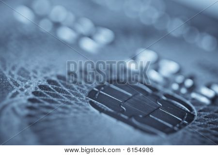 Chip Of A Plastic Card. Macro Shot