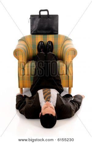 Businessman Meditating Yoga