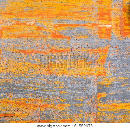 Abstract painting on grunge texture