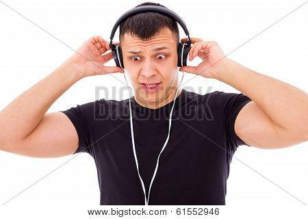 Man Shocked By What He Hears On Headphones