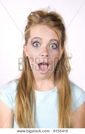 Expression Girl Surprised Mouth Open