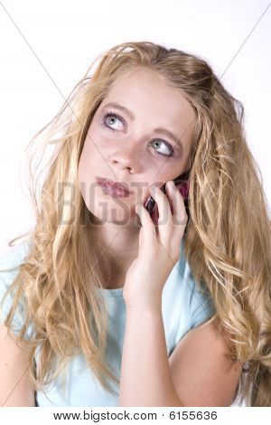 Expression Girl On Phone Thinking
