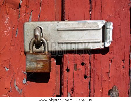 Locked Padloack and Hasp