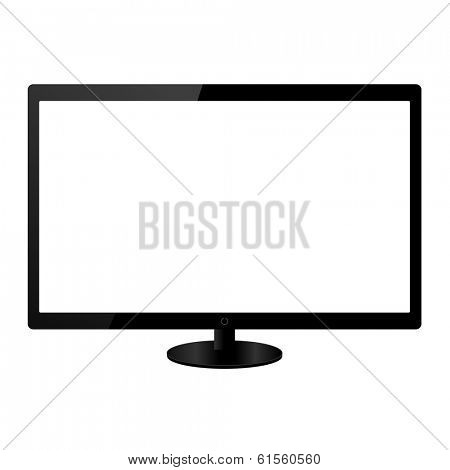 Flat screen lcd tv monitor vector illustration
