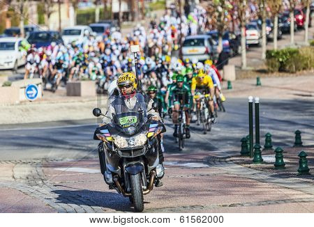 The Peloton- Paris Nice 2013 In Nemours
