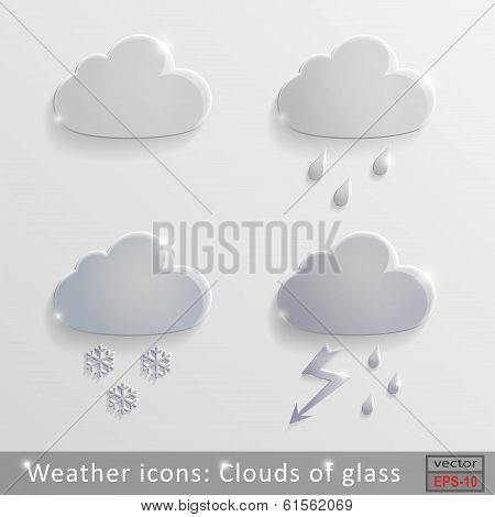 Weather Icons Clouds Of Glass
